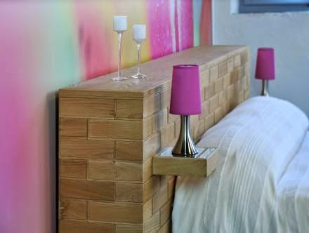 Retr and design legno in casa in versione inedita - Testiera letto originale ...