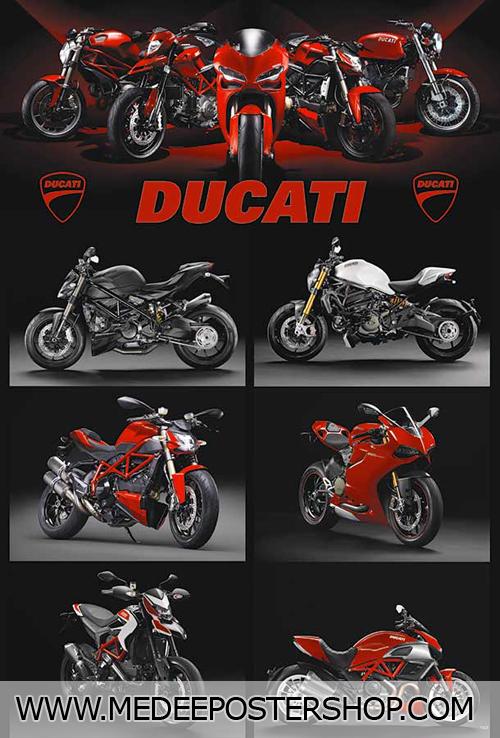 Ducati Big Bike Poster - 7323