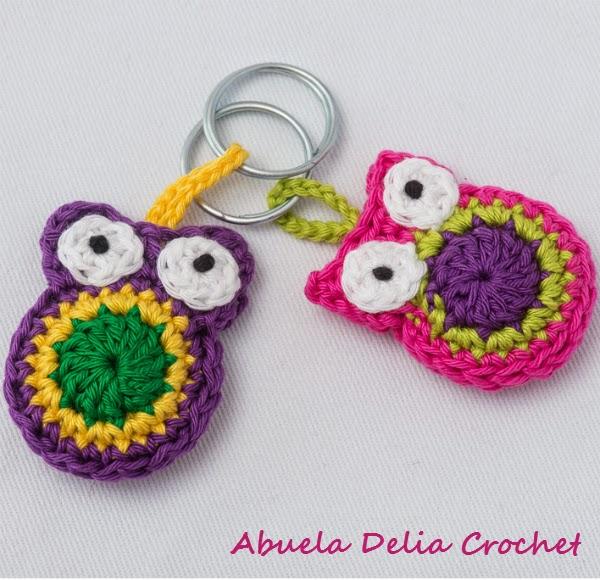 Abuela Delia Crochet: Llavero Buho | Owl Key Ring
