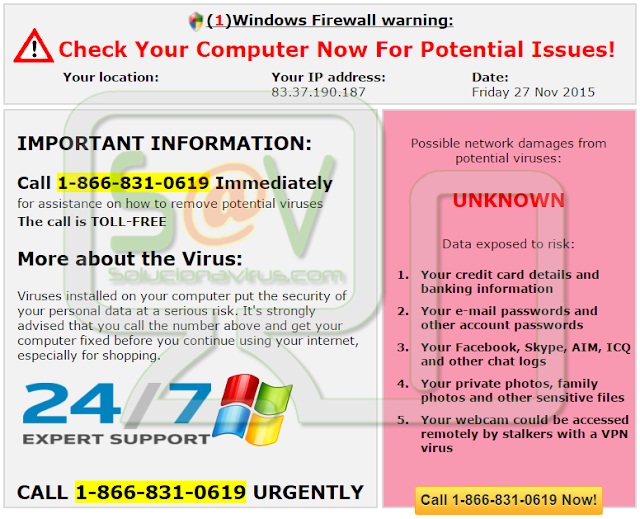 Usawindowsrepair.info pop-ups (Falso soporte)