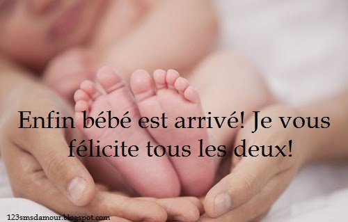 Le meilleur sms et message felicitation naissance bébé