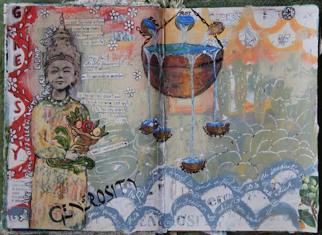 Galia Alena, woty, video tutorial, art journal, mixed media