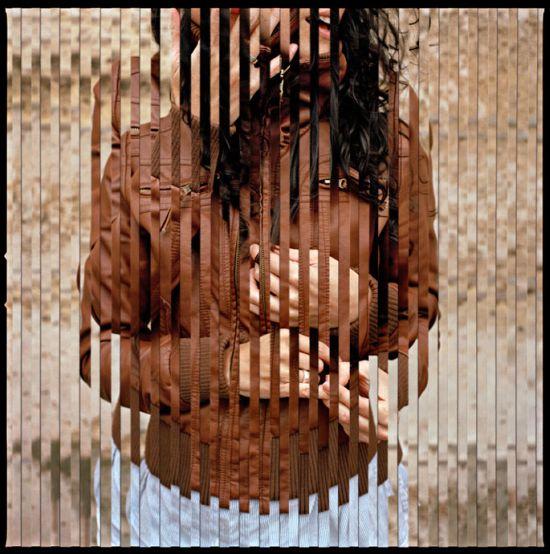 fotografias recortadas simbolizando um piscar de olhos no tempo e espaço de Isabel M. Martinez