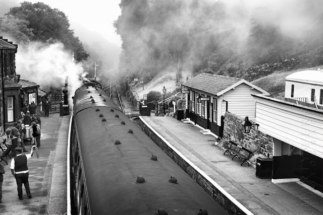 Picture of a steam train at Goathland railway station by Martyn Ferry Photography
