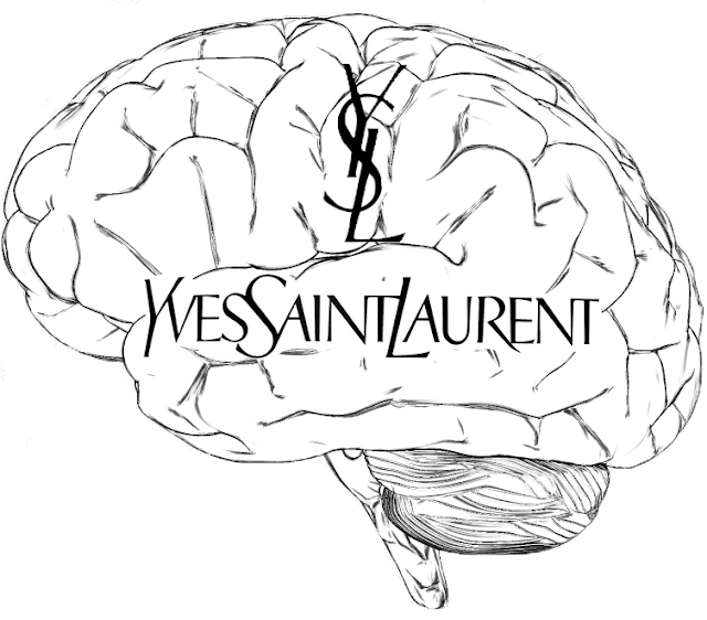 brain, YSL, Yves Saint Laurent, Saint Laurent, fashion, logo, stle, Hedi Silmane, brand