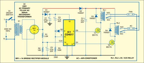 Control Switch For Fan And Air Conditioner
