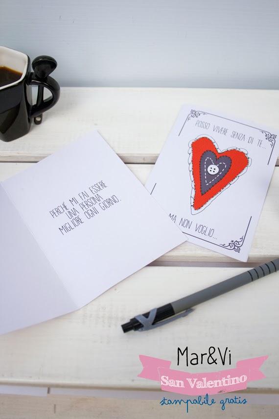 Cartolina di San Valentino per stampare gratis