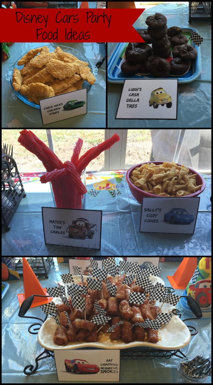 Disney Cars Free Food Printables