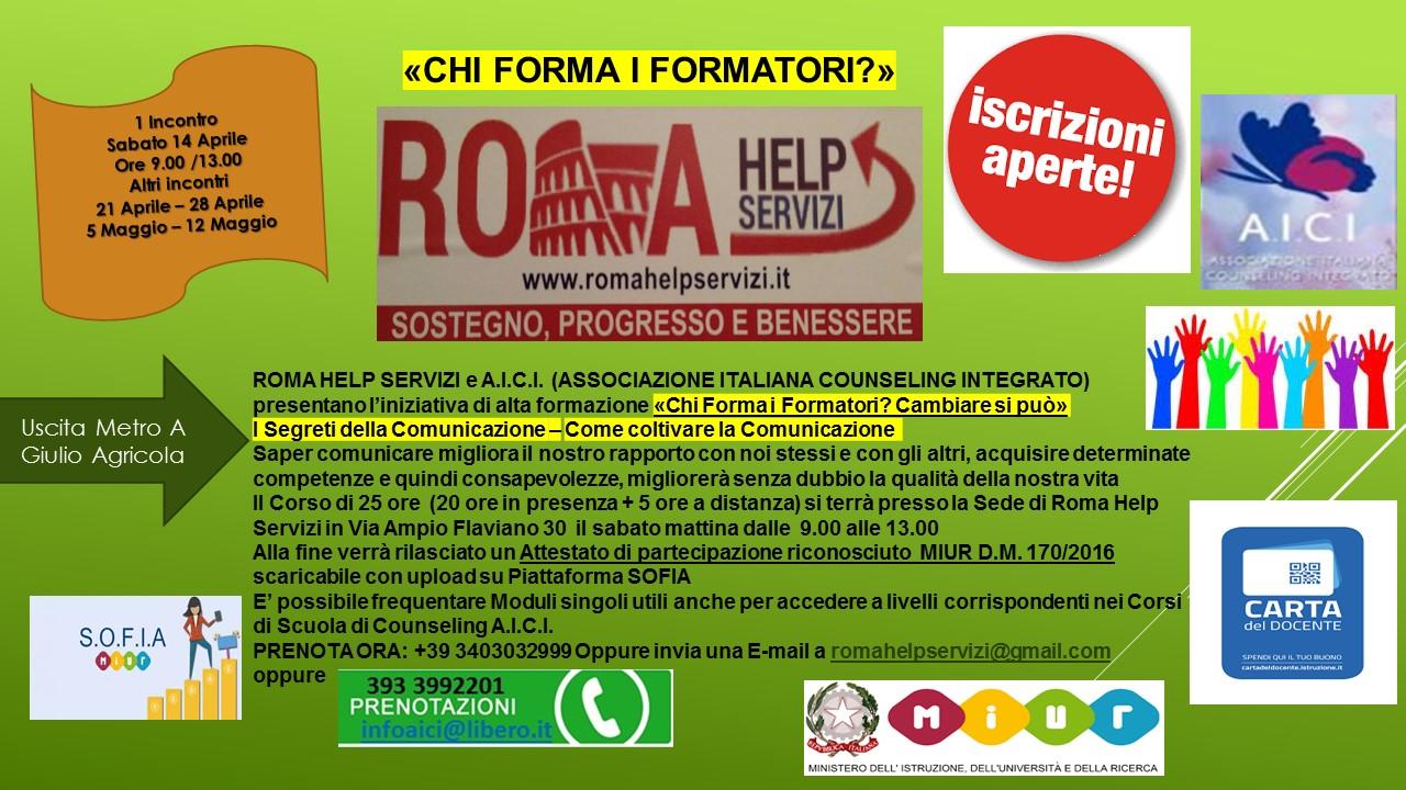 """SECONDA EDIZIONE 2018    """"CHI FORMA I FORMATORI"""""""