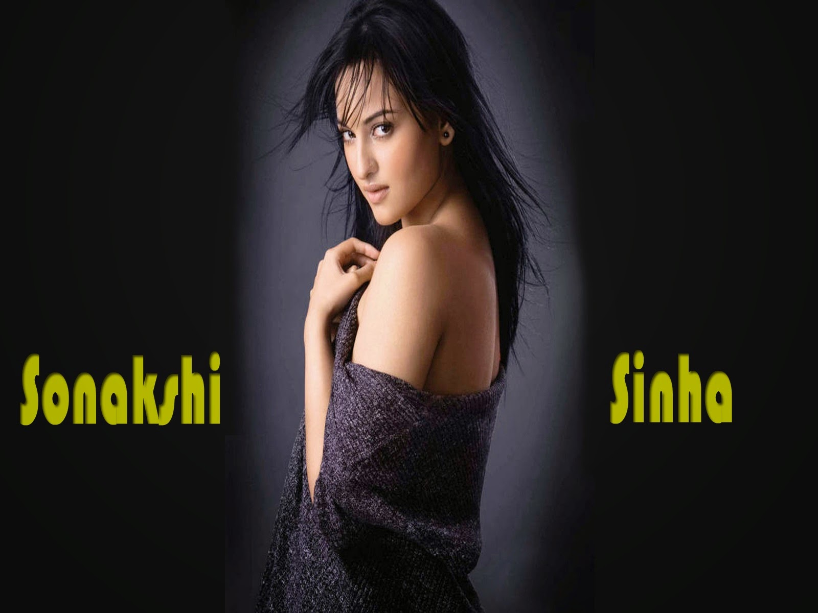 Bollywood Indian Actress Sonakshi Sinha Sexy beautifull in Black HD Images