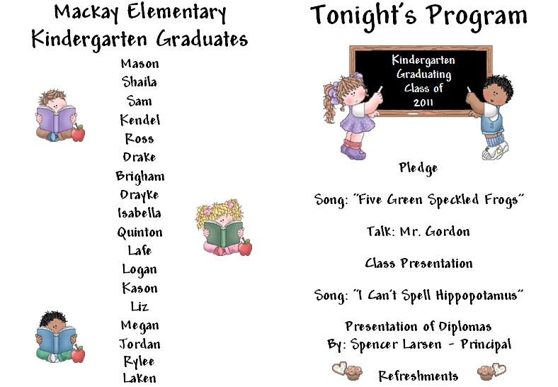 You searched for Kindergarten Graduation Ceremony Program Template ...