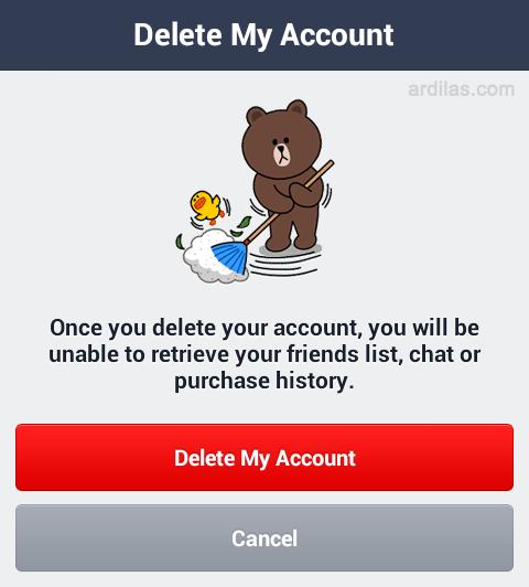 Delete akun - Cara Menghapus / Delete Akun Line - Android