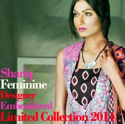 Shariq Feminine Designer Embroidered Dresses Collection 2014