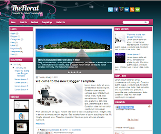 TheFloral+Blogger+Template