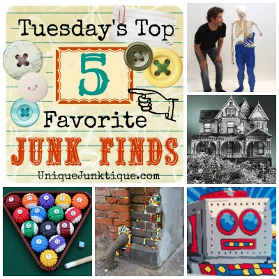 Tuesdays Top Five Favorite Junk Finds #20 Featuring Lego Art