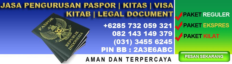 JASA PASPORT WNI + WNA | SIM | PRIVAT ONLINE | JASA KITAS |  MUDAH & HEMAT | SURABAYA -INDONESIA