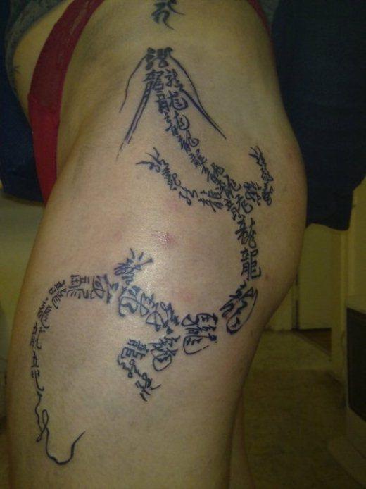 Tattoo Kanji Dragão