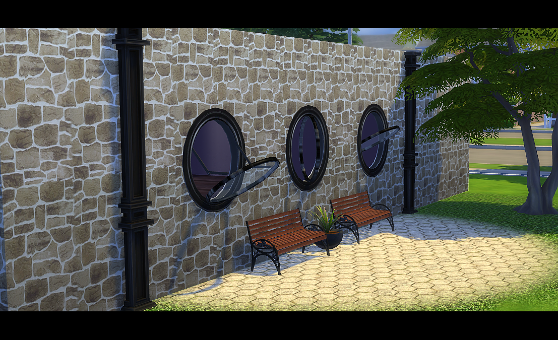 My sims 4 blog round open windows by daer0n for 12 round window