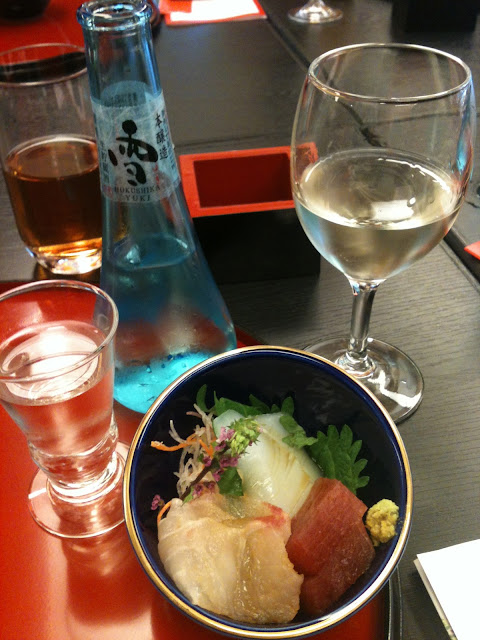 Traditional Japanese wedding ceremony food