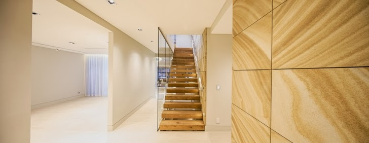Stairs in Beautiful Box House by Zouk Architects