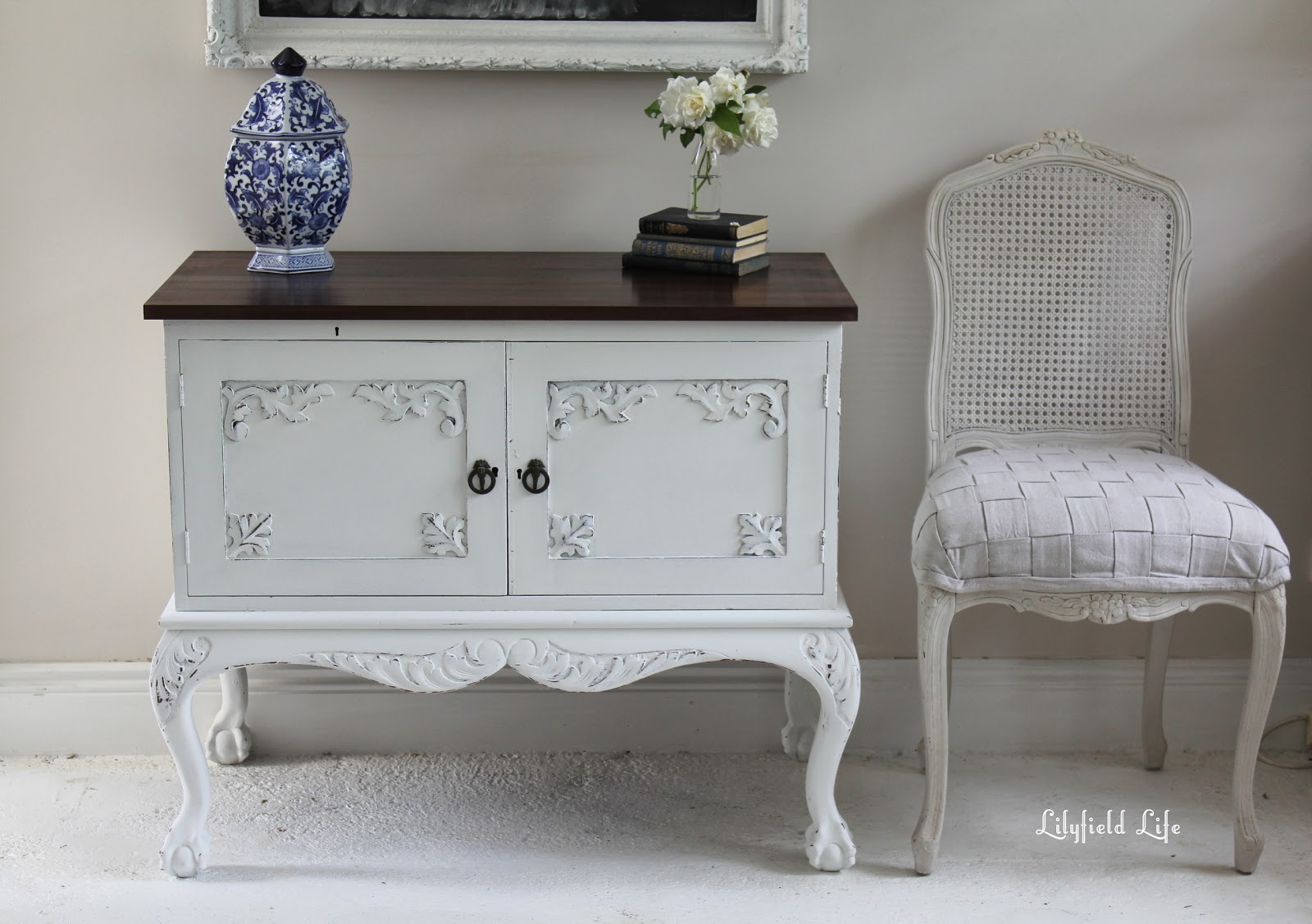 Lilyfield Life: White Painted Vintage cabinet - Step by step ...