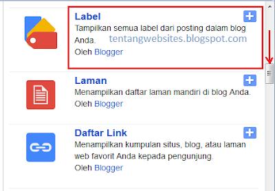 Cara simple buat label blog