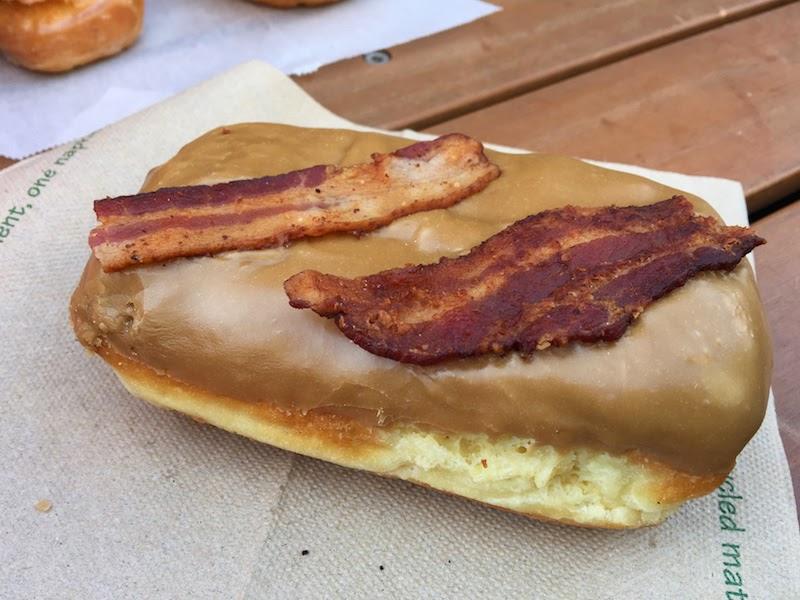 Bacon maple bar at Voodoo Doughnut