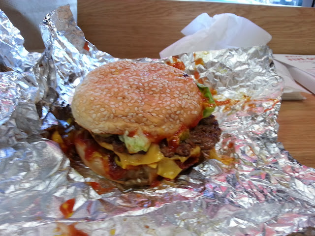 Bacon Cheeseburger from Five Guys