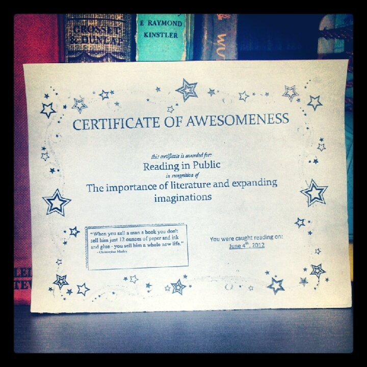 A Slice of Brie: Certificate of Awesomeness