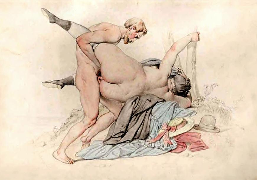 Нарисованная художниками порнографические рисунки