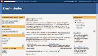 Denim Fast Loading Blogger Template