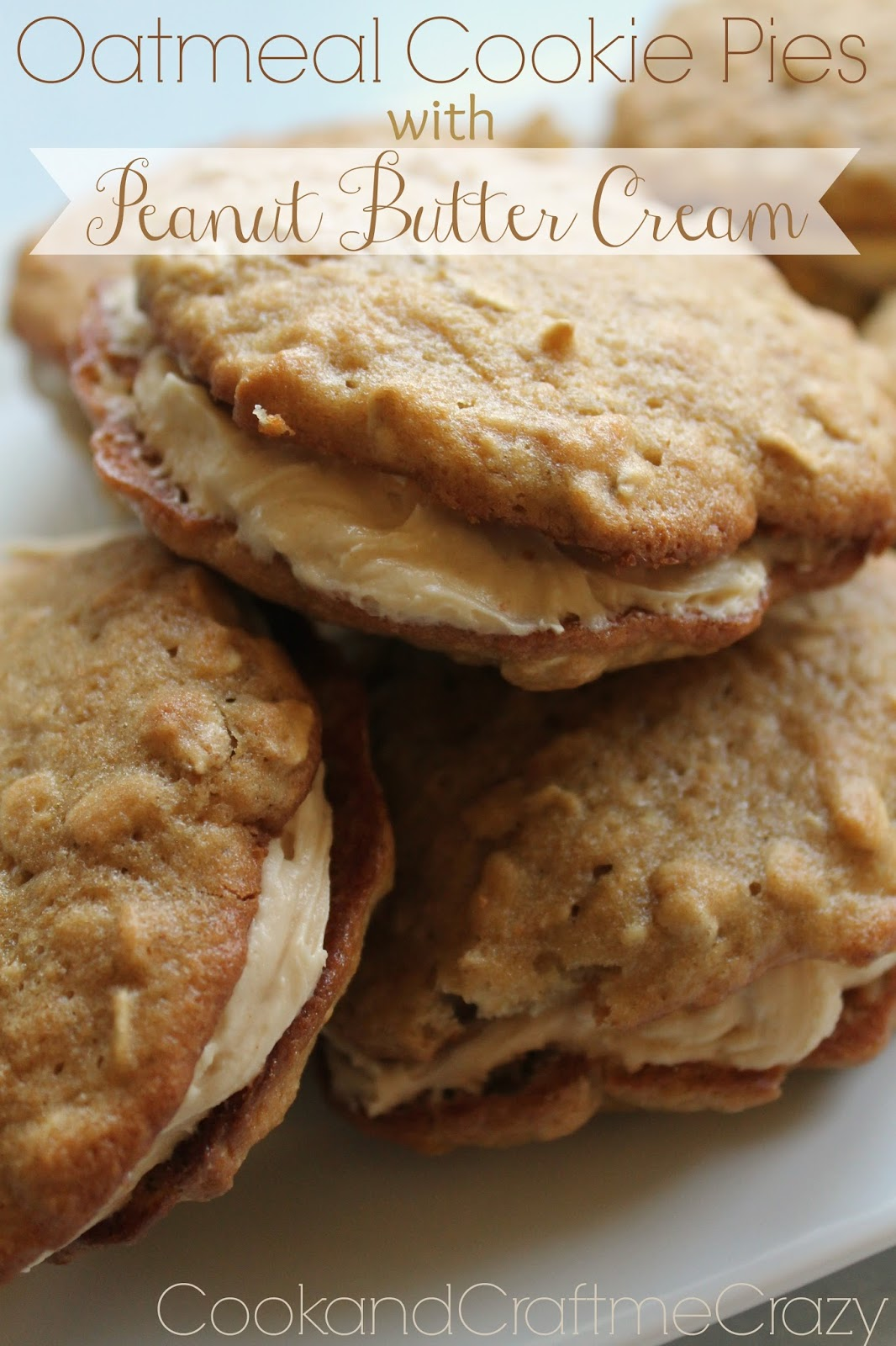 Oatmeal Cookie Pies with Peanut Butter Cream