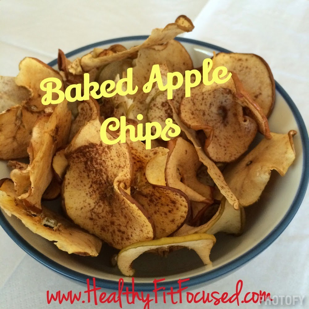 Baked Apple Chips, healthy snack, clean eating recipe