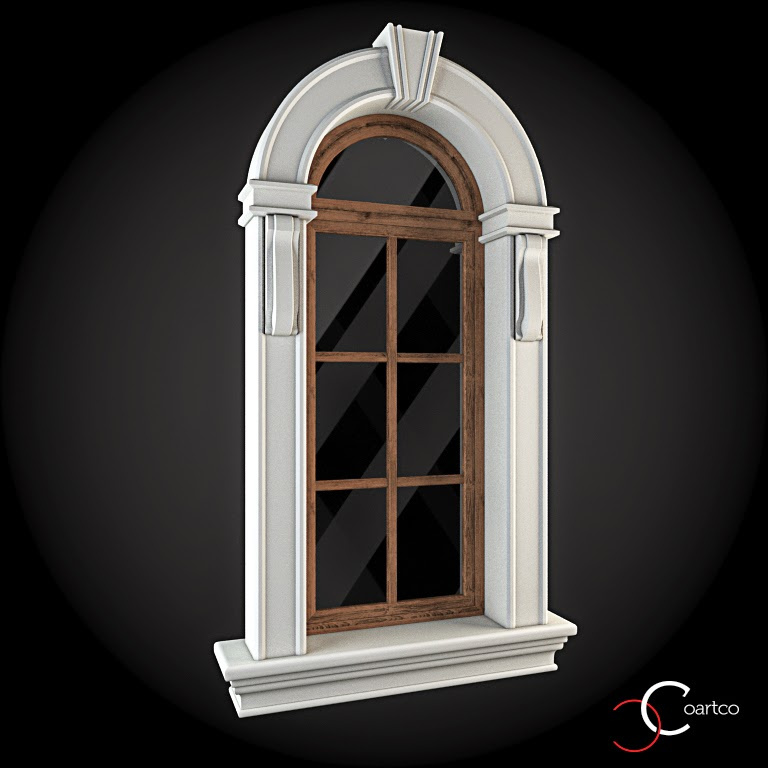 Ornamente Geamuri Exterior, Arcada, fatade case cu profile decorative polistiren, profile fatada,  Model Cod: WIN-021