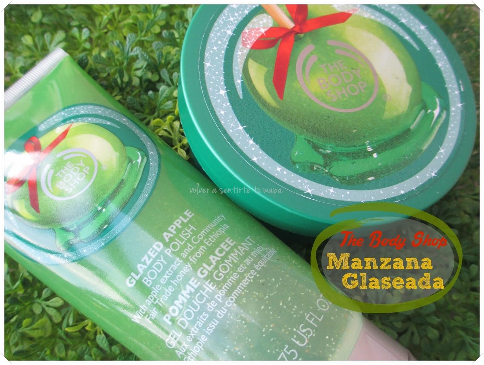 Manzana Glaseada de The Body Shop - Exfoliante y Manteca Corporal {Navidad}