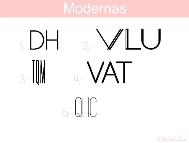 TIPOGRAFIAS, MARCOS Y BORDES PARA MONOGRAMAS:MODERNAS