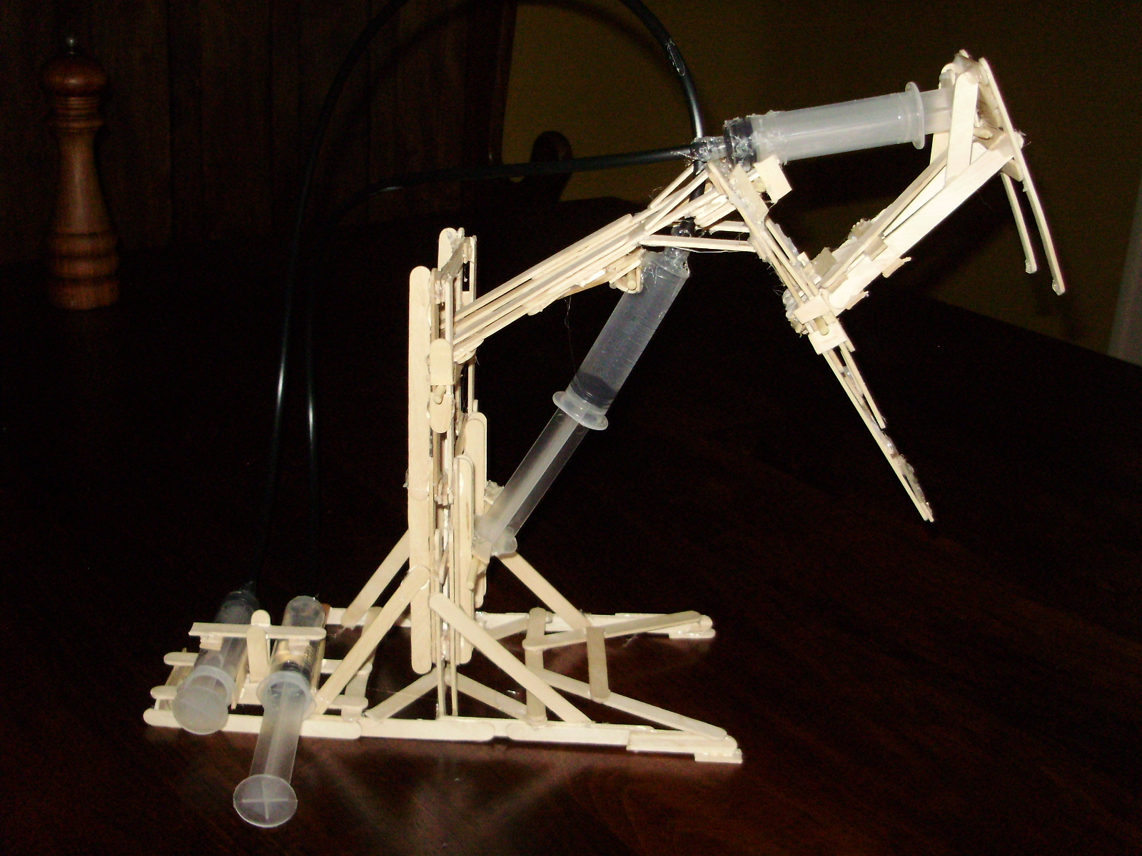 Popsicle Stick Hydraulic ArmHydraulic Arm With Syringes