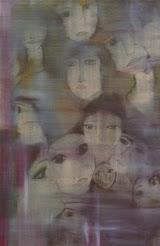 """""""ΠΡΟΣΩΠΑ""""ΝΟΤΑ ΚΥΜΟΘΟΗ ΕΛΑΙΟΓΡΑΦΙΑ ΣΕ  ΜΟΥΣΑΜΑ,1992(ΑΝΗΚΕΙ ΣΕ ΣΥΛΛΕΚΤΗ)"""