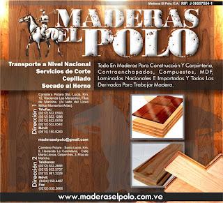 MADERAS EL POLO, C.A. en Paginas Amarillas tu guia Comercial