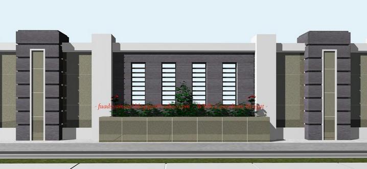 model desain pagar tembok rumah minimalis