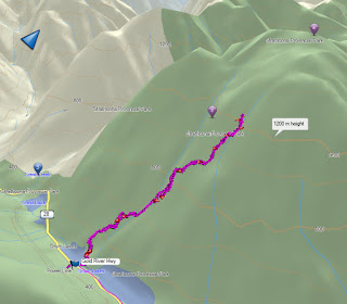 Crest Mountain Map GPS Route