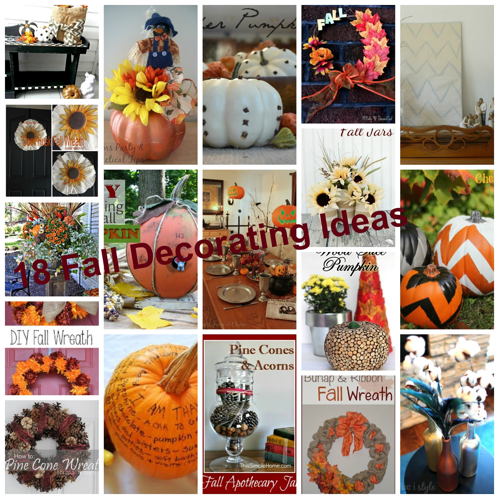 18 Fall Decorating Ideas - Kathe With An E