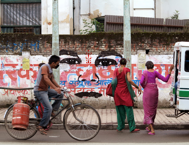 street art by stinkfish in nepal 9