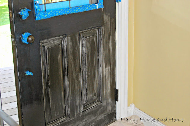 painting the front door, painting doors, paint doors black, black front door