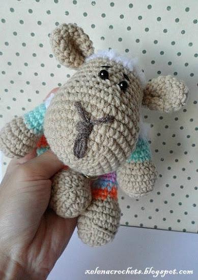 вязаная овца crochet amigurumi