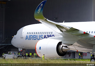 The first Airbus A350 XWB is now painted [Photo: Airbus]
