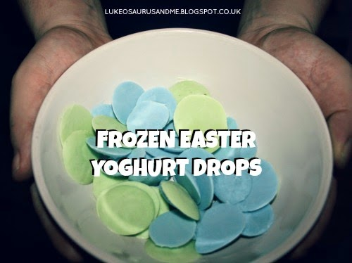 Easter Activities For Toddlers. Frozen Easter Yoghurt Drops. www.lukeosaurusandme.blogspot.co.uk