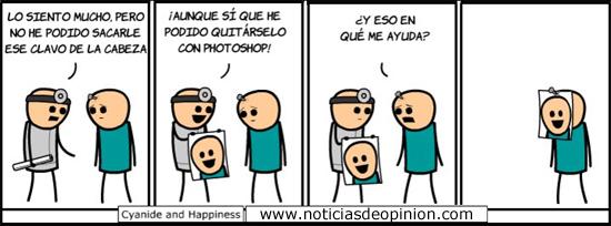Humor - Viñetas: clavo en la frente.