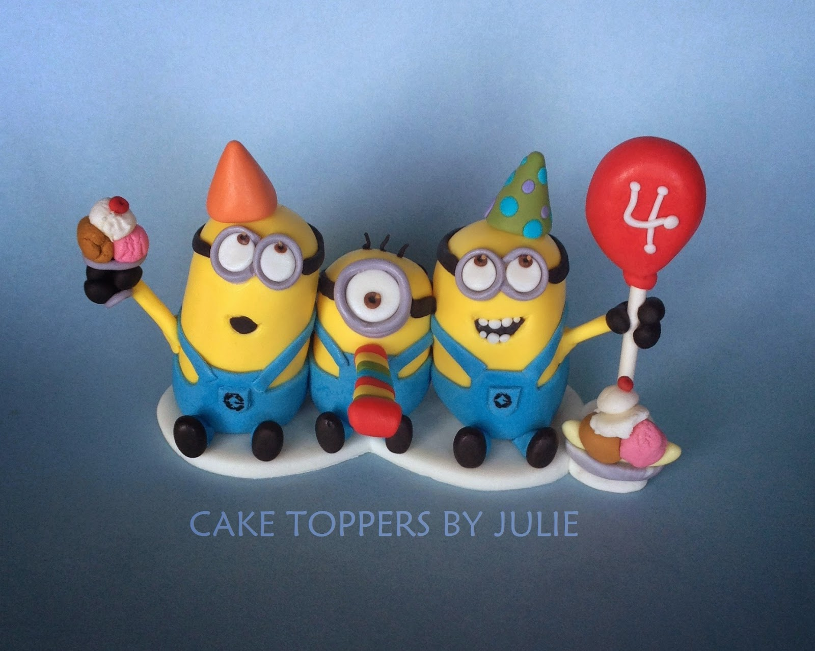 Custom Cakes by Julie Minion Cake Toppers