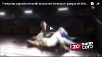 Pareja sorprendida teniendo sexo en parque de Manrique Medellín